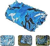 Red de camuflaje de Velity para caza,Cover for Sunshade Decoration Shade Net Red de camuflaje Parasol para acampar, Red de camuflaje azul, Decoración de fiesta temática, Ligero y duradero, Poliés
