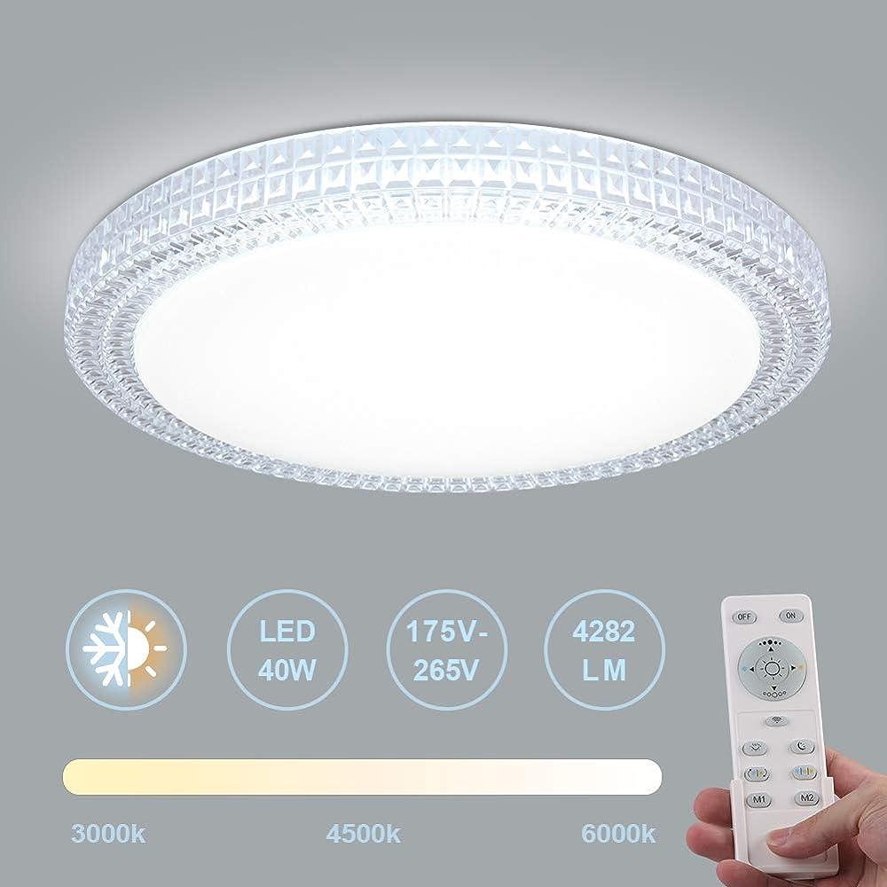 Plafoniera led lampada a soffitto con telecomando