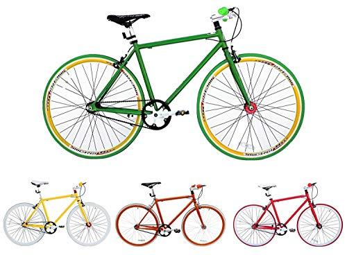 Micargi, Biciclettada Corsa da 71 cm, Singola velocit, a Scatto Fisso, Altezza Telaio 48cm, 53 cm, Grn RH 48cm
