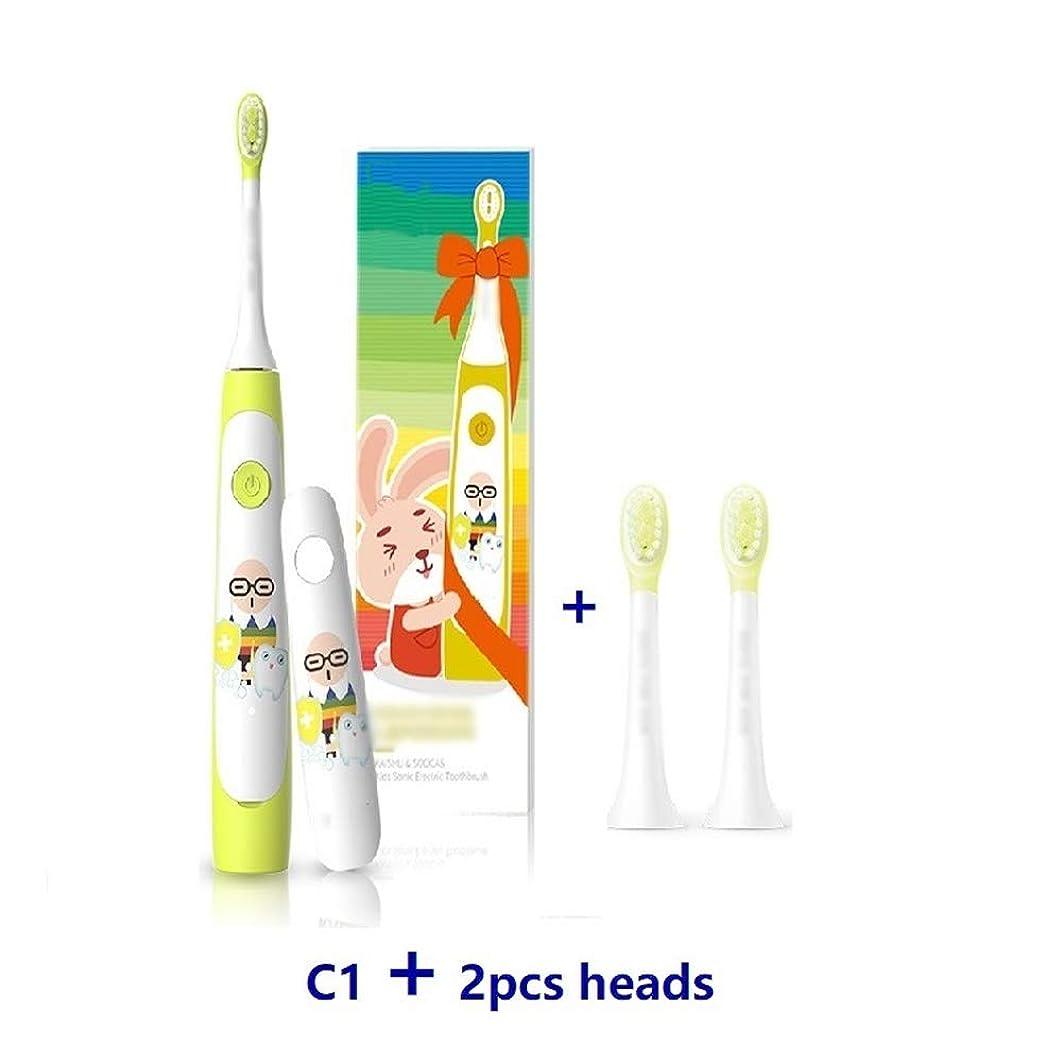 真鍮参照する経歴電動歯ブラシの子供の赤ん坊の歯ブラシ電動ソニック超音波充電式歯ブラシ,add2heads