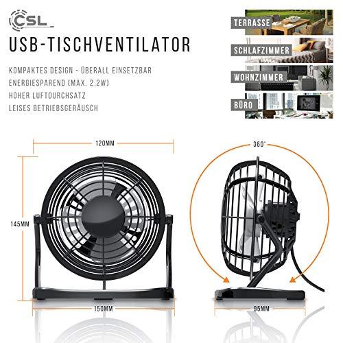 CSL – USB Ventilator | Tischventilator Bild 3*