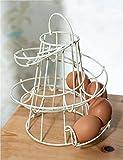 Taylor & Brown® Kitchen Storage Spiral Helter Skelter Egg Holder Stand Rack Holds Up to 18 Eggs (Cream)