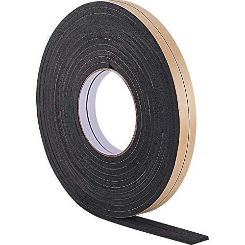 10 m de Burletes de Espuma Cinta de Sellador para Sellado de Puerta Ventana (5 mm, Negro)