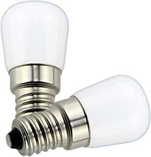 Poeland 1.5W LED Bulb Light 120V E14 Base Pack of 2 Warm White