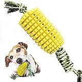 Juguete para masticar perro con cuerda juguete molar para perro amarillo 1pcs
