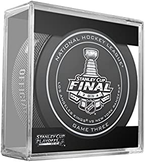 2014 NHL Stanley Cup Finals Game 3 Puck in Cube - New York Rangers vs. Los Angeles Kings