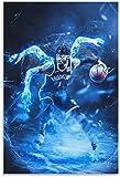 ZRRTTG PóSter Y Estampados Baloncesto D'Angelo Russell para la decoración Familiar Moderna Lienzo Pintura Pared Arte Cuadros 23.6'x35.4'(60x90cm) Sin Marco