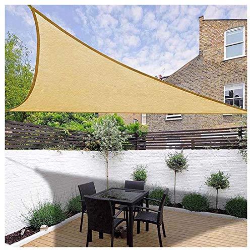 Toldo Vela de Sombra 3x3x3m Triangular Transpirable Se instala en Fachada, Resistente Protección Rayos UV para Exterior Terraza Jardín Pérgola, Patio o Balcón Toldo Comp(Size:5×5×5m,Color:Arena)