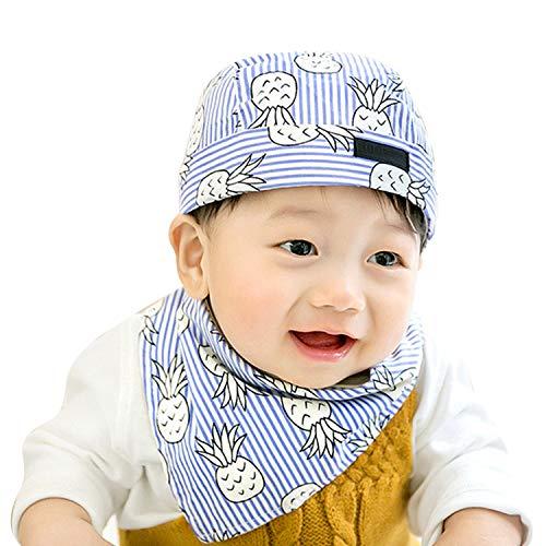 LONTG Mütze für Unisex mit dreieckstuch 6-12 Monate Baby im Frühling Sommer Herbst Sonnenschutz Sonnenhut Piratenhut