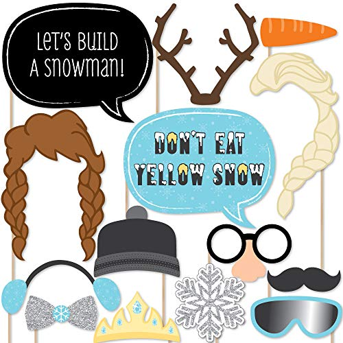 Snow Princess - Photo Booth Props Kit - 20 Count