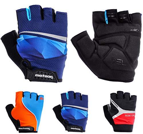 meteor Cycling Gloves radhandschuhe MTB Handschuhe Herren Gel fahrradhandschuhe Mountainbike Radsport Damen Radsport-Handschuhe Downhill Fahrrad Handschuhe Kinder (S (8,8cm/~3.4inch), GX 170)