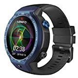 Lemfo LEM9 Smart Watch - Android 7.1 1.39 inch Screen 600Mah Battery with 8MP Camera Sport Business Strap, Royal Blue