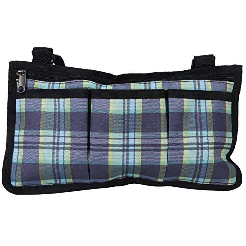 Roberee Bolsa de Almacenamiento: Sillas de Ruedas multifuncionales Bolsa Lateral Reposabrazos Bolsa Colgante Organizador Bolsa de Almacenamiento Rejilla Azul 18x32.5cm