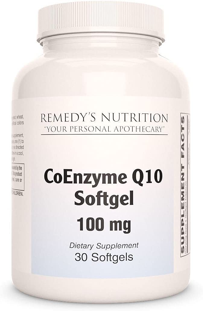 CoQ10 Capsules OFFicial 100mg Remedy's Nutrition Strength Boston Mall MEGA