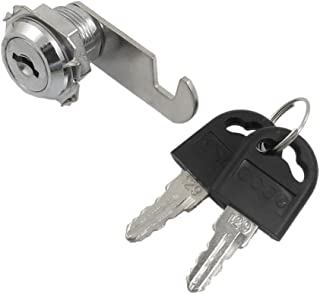 uxcell Desk Tool Quarter Turn Keys Cam Lock, 19mm Thread