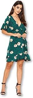 AX Paris Women's Floral Print Wrap Dress