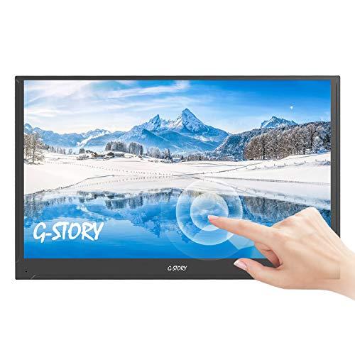 G-STORY 15,6 Zoll ultraflacher Touchscreen, FHD 1080P TN panel Tragbarer Monitor, NS Direktanschluss / Mini-HDMI / integrierte Lautsprecher / HDR / FreeSync / Type-C / 60 Hz