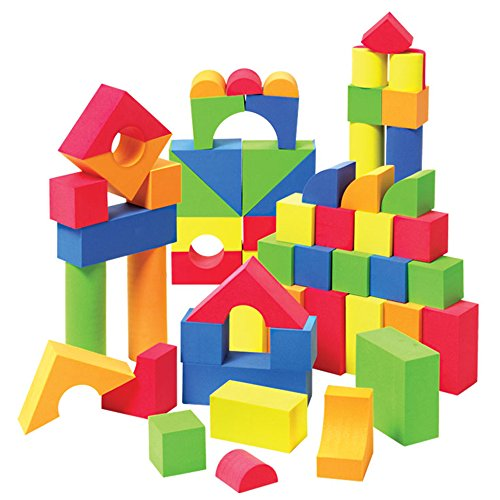 Liberty Imports Creative Educational EVA Foam Building Blocks   Ideal Construction Toys for for Girls, Boys, Toddlers - 131 Pcs