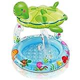 INTEX Babypool Pool Baby Planschbecken Schildkröte 102x107cm Sonnenschutz Mini