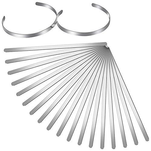 Iycorish 18 StüCk Armband Rohlinge Verstellbare Manschette Armreif Armband Edelstahl Leerer Armreif für DIY Schmuck Armreif Herstellung