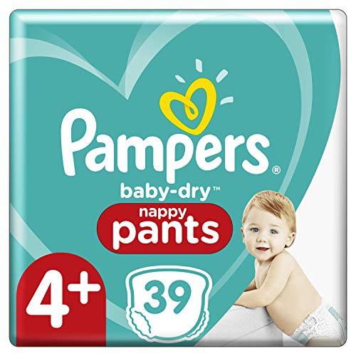 Pampers Windelhöschen, Größe 4 + (9 kg - 15 kg), Baby-Dry Pants, 39 Höschen