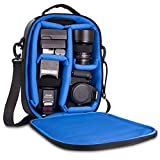 Naztech Camera Bag Has A Modular Backpack Insert and Adjustable Padded Divders to Securely Stow Your Equipment. Water Resistant with Removable Straps