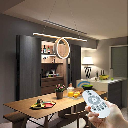 Living Equipment Pendant Light Double Round LED Pendant Lamp 60W / 88W Creative Simple Handelier Remote Dimming 3000 6000K Hanging Lamp Shade from A Silicon Aluminum Alloy Three Band Fluorescent La