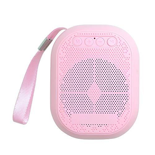 Liqiqi Altavoz Bluetooth LED, inalámbrico, portátil, luz Nocturna, Caja de música, soporta Tarjeta TF, Radio FM, Altavoz con Soporte de Audio HD y Bajos mejorados