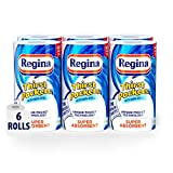 Regina Thirst Pockets Kitchen Roll | 6 Rolls - 600 Super Absorbent Sheets | Unique Pocket Technology | Your Ideal Kitchen Companion | FSC® Certified Product | | WWF Climate Savers Program