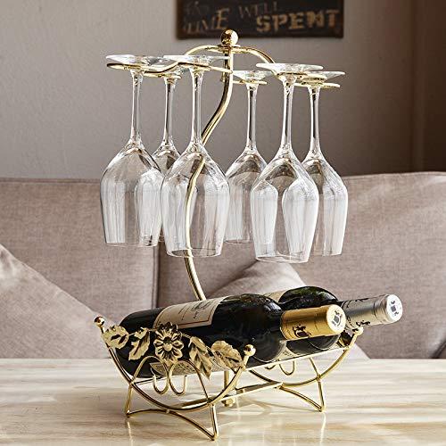 Yarmy Creativa botellero revés Vino Rack Vidrio de Vino Rack forja Vino Estante Ornamentos