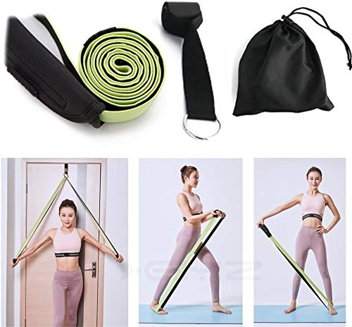 Equipment Resistance Band + Door Anchor, Workout Pull UP Stretching Loops, Mobility Powerlifting Pilates Yoga Stretchers, Legs Glutes Fitness Exercise Physical Therapy Door Straps, for Home Gym Traini
