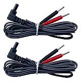 2 Cables de conexión jack 2mm para electrodos para TENS y EMS - calidad axión
