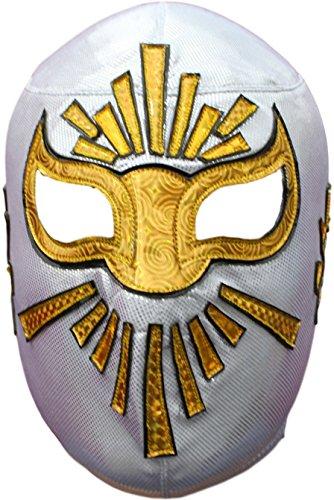 Wählen Sie Ihre professionelle Lucha-Libre-Maske, Erwachsenengröße – Luchador mexikanische Wrestling-Maske, Premium-Qualität, Maske Kostüm für Erwachsene - Wei� - Einheitsgröße