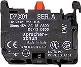 SPRECHER & SCHUH D7-X01 Contact Block, 690VAC, 10AMP, 1NC, Latch Mount