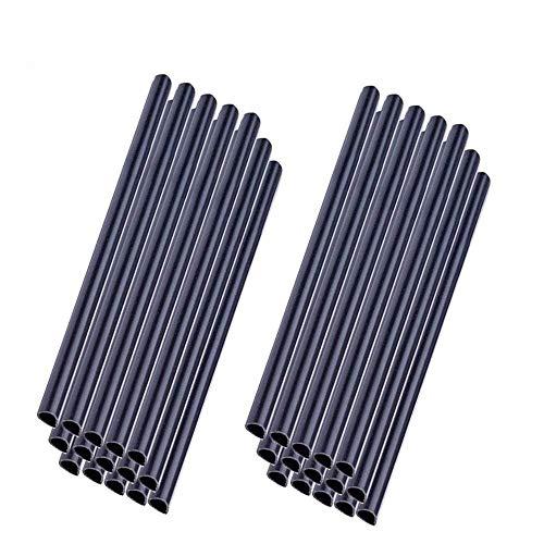 MCTECH Universal Befestigungsclips Klemmschienen für PVC Sichtschutzstreifen (30 Stück, Anthrazit)