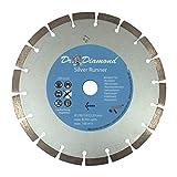 Diamanttrennscheibe 230 Silver Runner Diamnt-Trennscheibe mit 22,23 mm Bohrung Diamant-Scheibe geeignet für Bordstein, Pflasterstein, Rasenkantenstein, Verbundstein, Dachziegel und Mauerstein