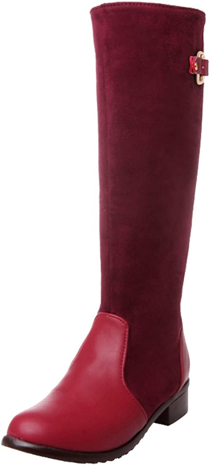 Mo Joc Women Knee High Low Heel Boots