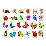 Oblique Unique® Schmetterling Tattoo Set 48 Stück Kindertattoos Tattoo Verschiedene Motive Kinder Spielen