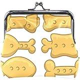Conjunto de Iconos de Galletas para Perros Monedero de Cuero Mini Monedero con Cierre rápido Cartera de Embrague para Mujeres Niñas
