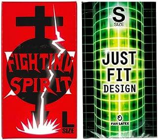 JUST★FIT(ジャストフィット) S 12個入 + FIGHTING SPIRIT (ファイティングスピリット) コンドーム Lサイズ 12個入
