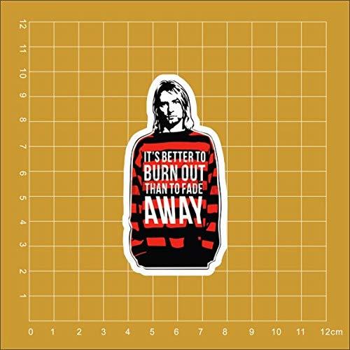 BLOUR Nirvana Kurt Cobain Notebook Kühlschrank Skateboard Trolley Koffer Rucksack Tabellen Buch PVC wasserdicht Auto Aufkleber