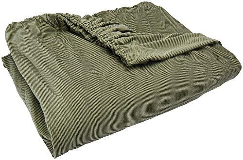 SureFit Stretch Stripe Separate Seat T-Cushion Sofa Slipcover - Sage