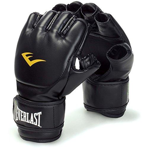 Everlast MMA-Handschuhe, für Grappling, mit Klettverschluss, Schwarz