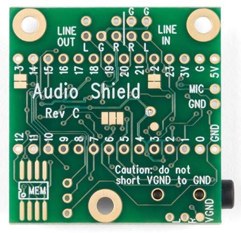 Audio Adaptor Board für Teensy 3.0 - 3.6