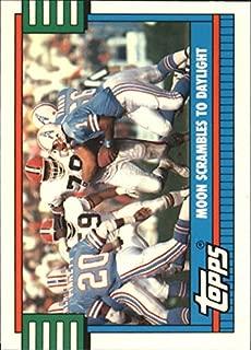 1990 Topps Tiffany #519 TL Warren Moon Oilers NFL Football Trading Card