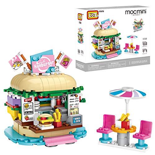 joylink Bausteine Spielzeug, BAU Konstruktionsspielzeug Burger Lernspielzeug Spielzeug Bauset 443 Teile Bausteine Set Kreative Bauklötze Konstruktionsspielzeug für Mädchen Jungen