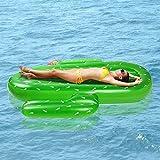 SXC Hinchable Piscina Cactus Flotador Gigante Inflable Cactus Colchoneta Playa,Piscina al Aire Libre Juguete para Niños y Adultos