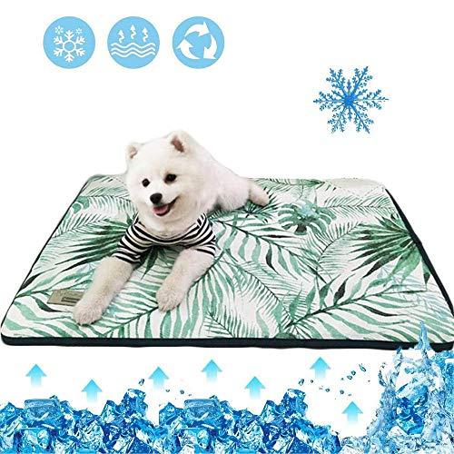 unknow Hundematratze-Kühlmatte Hundekühlmatten für den Innenbereich Gelenkschmerzen reduzieren Hundekühlmatte Extra großes Hundekühlkissen, 110 x 80 cm