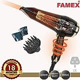 FAMEX PRO3508 - Secador de pelo (200 W, con difusor, color dorado)