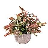 Cuisit Plantas artificiales en maceta para interiores y plantas artificiales en macetas de pulpa para decoración del hogar, boda, fiesta (1 paquete)